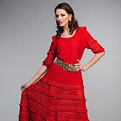 Одежда ручной работы. Ярмарка Мастеров - ручная работа Дизайнерское вязаное платье. Handmade.
