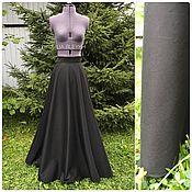 Одежда ручной работы. Ярмарка Мастеров - ручная работа Черная юбка в пол. Handmade.