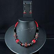 handmade. Livemaster - original item Set necklace and earrings: