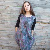 Одежда handmade. Livemaster - original item Felted warm sundress boho style Autumn ice. Handmade.