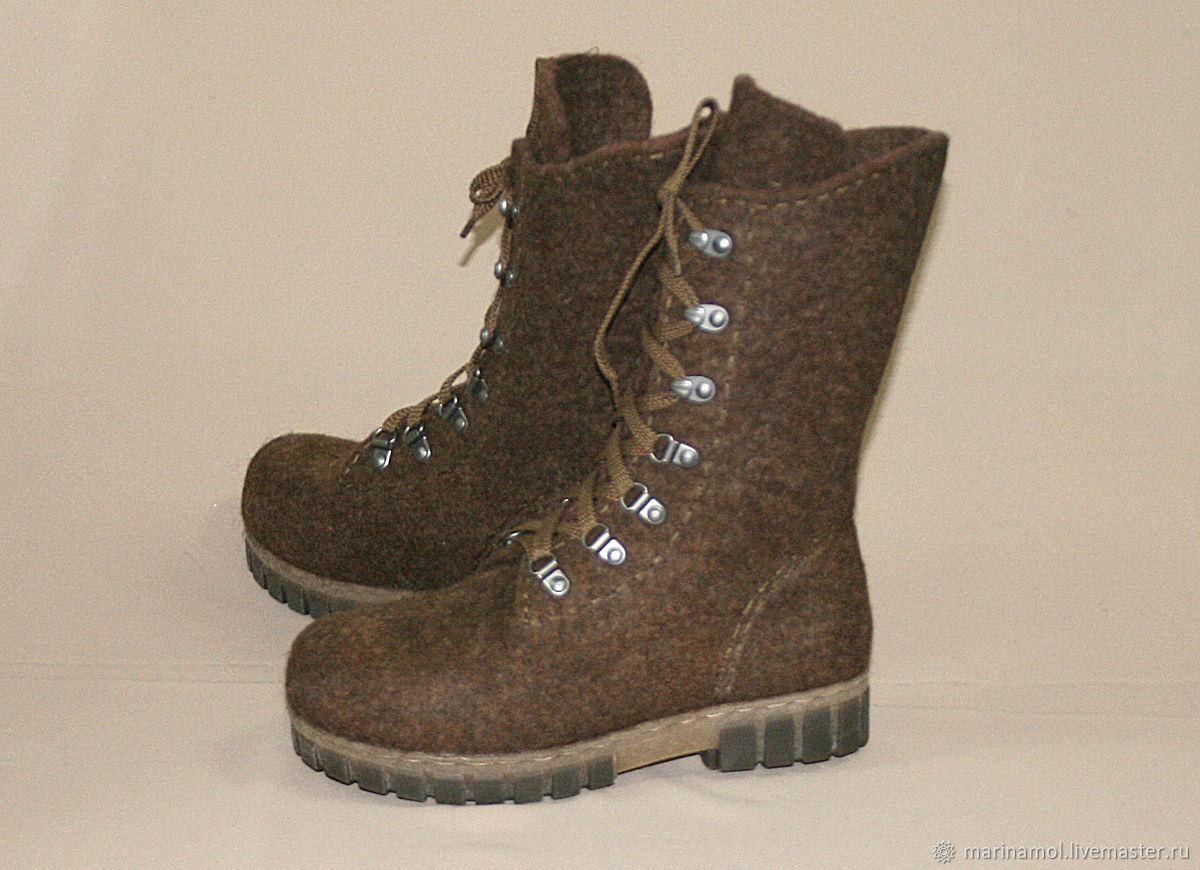 9c011c957 Обувь ручной работы. Ярмарка Мастеров - ручная работа. Купить Женские валяные  ботинки Brown boots ...