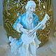 Винтажные предметы интерьера. Ярмарка Мастеров - ручная работа. Купить Фарфоровая статуэтка «Юноша с мандолиной». Германия.. Handmade. Голубой, винтаж