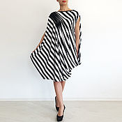 Одежда handmade. Livemaster - original item Dress tunic Asymmetrical dress Fashion dress striped Dress. Handmade.