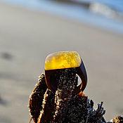 Украшения handmade. Livemaster - original item Wooden ring with Kaliningrad amber. Handmade.