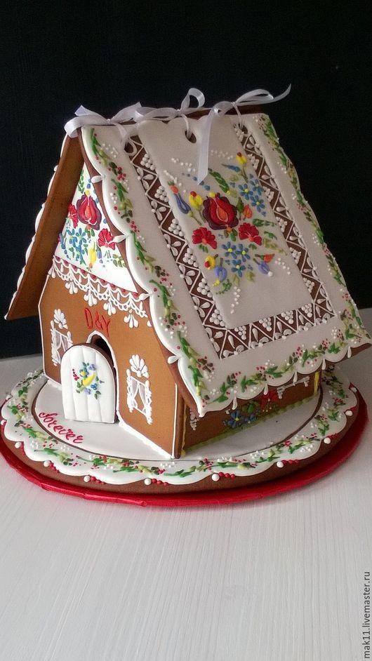 Пряничный имбирный домик от правильных пряников Анны и Марины. Полностью съедобен. Срок хранения пряничного домика - 1 год.