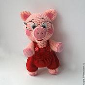 Куклы и игрушки ручной работы. Ярмарка Мастеров - ручная работа Очень умный поросенок. Handmade.