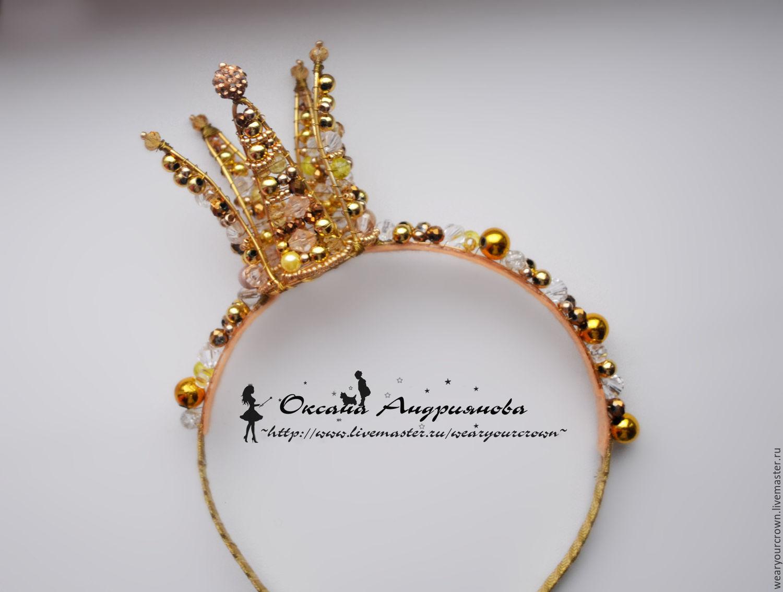Корона на ободке из проволоки своими руками
