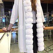 Одежда ручной работы. Ярмарка Мастеров - ручная работа Кардиган из 100% кашемира.Опушка из шиншиллы White Wilson.. Handmade.