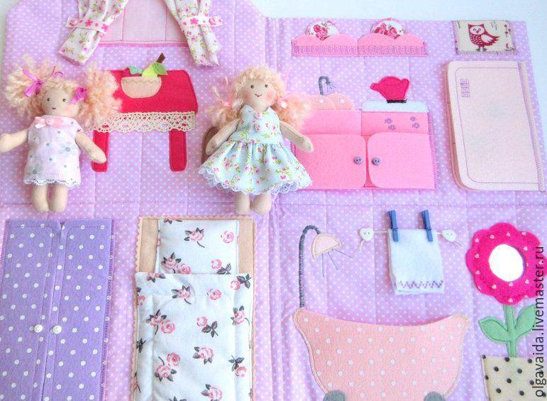 Домик сумочка для куклы своими руками