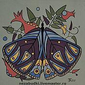 Картины и панно ручной работы. Ярмарка Мастеров - ручная работа Картина «Бабочка. Композиция в треугольнике».. Handmade.