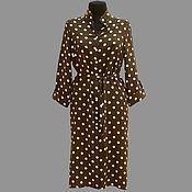 Одежда ручной работы. Ярмарка Мастеров - ручная работа Платье-рубашка модель 12-88 из хлопковой ткани. Handmade.