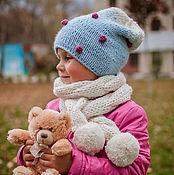 """Работы для детей, ручной работы. Ярмарка Мастеров - ручная работа Комплект """" Уютный """" шарф коса , шапка. Handmade."""