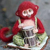 Куклы и игрушки ручной работы. Ярмарка Мастеров - ручная работа Обезьянка Манджу. Handmade.