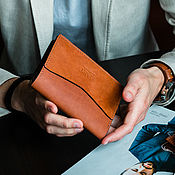 Сумки и аксессуары handmade. Livemaster - original item Holder for documents. Montreal leather passport cover. Handmade.