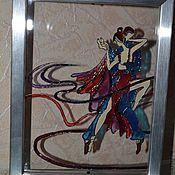 """Картины и панно ручной работы. Ярмарка Мастеров - ручная работа Картина на стекле """"Танцы со звездами"""". Handmade."""