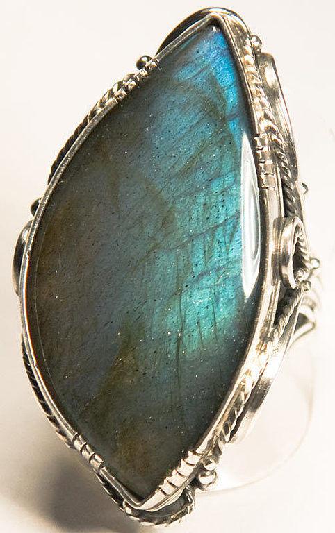 Кольца ручной работы. Ярмарка Мастеров - ручная работа. Купить Кольцо с лабрадором «Синяя птица» (резерв). Handmade. Бирюзовый