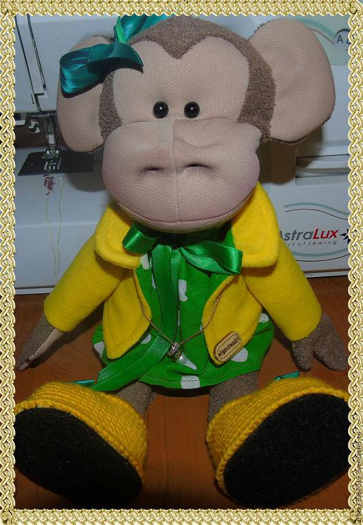 Игрушки животные, ручной работы. Ярмарка Мастеров - ручная работа. Купить сувенирная кукла обезьянка. Handmade. Игрушка ручной работы