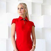 Одежда handmade. Livemaster - original item Dress bodycon red Jersey. Handmade.