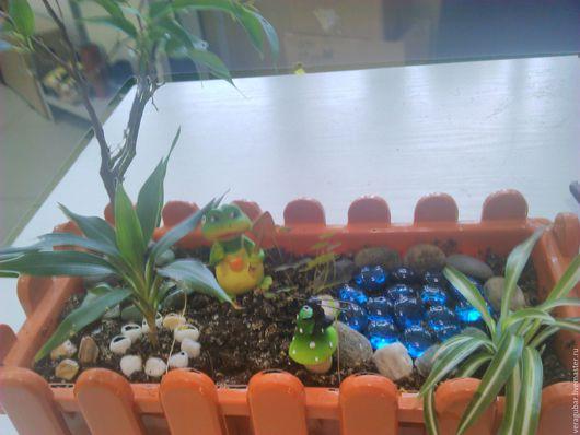 Фитодизайн помещений ручной работы. Ярмарка Мастеров - ручная работа. Купить мини-садик. Handmade. Коричневый, растения, для окна, растения