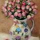 Картины цветов ручной работы. Ярмарка Мастеров - ручная работа. Купить Розы Прованс. Картина из шерсти.. Handmade. Разноцветный