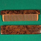 Сувениры и подарки handmade. Livemaster - original item Comb in box wood burl poplar. Handmade.