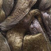 Материалы для творчества ручной работы. Ярмарка Мастеров - ручная работа Вискоза для валяния . Светло -коричневая 50гр-80р. Handmade.