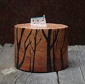 """Посуда ручной работы. Ярмарка Мастеров - ручная работа Баночка из серии """"Лес"""". Handmade."""
