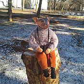 Кастом ручной работы. Ярмарка Мастеров - ручная работа Кукла Кот -фотограф ,Сфинкс. Handmade.
