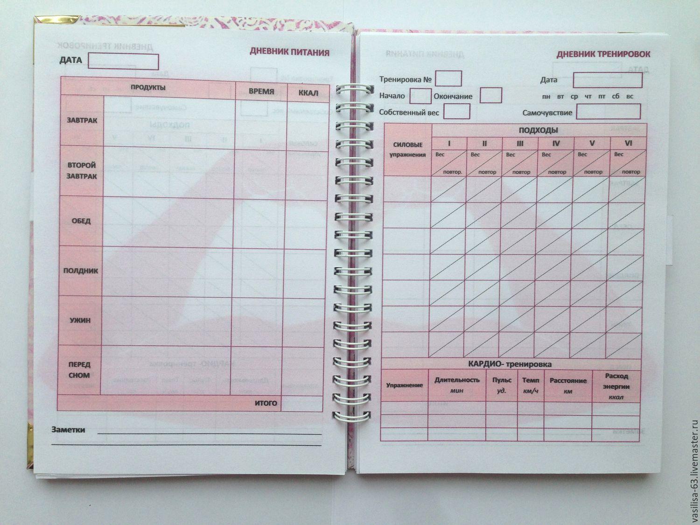 Образец дневника для похудения
