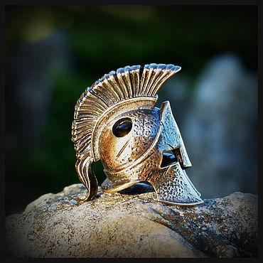 """Сувениры и подарки ручной работы. Ярмарка Мастеров - ручная работа Бусина """"Шлем 300"""" для темляков или браслетов , латунь. Handmade."""