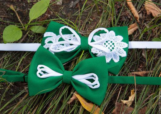 Галстуки, бабочки ручной работы. Ярмарка Мастеров - ручная работа. Купить Бабочка НЕФРИТ. Handmade. Зеленый, галстук-бабочка