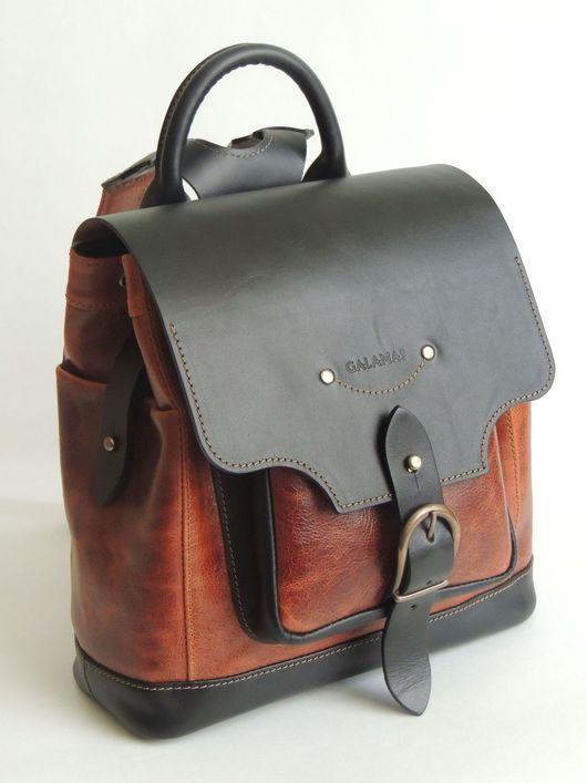 Рюкзаки ручной работы. Ярмарка Мастеров - ручная работа. Купить Рюкзак. Handmade. Комбинированный, натуральная кожа, натуральная кожа, полиэстер