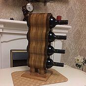Подставки ручной работы. Ярмарка Мастеров - ручная работа Подставка для вина из массива дуба. Handmade.