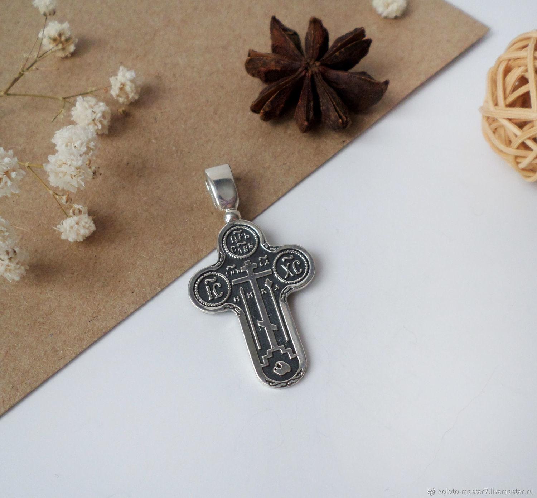 Крест старообрядческий. Серебро 925 пробы, Народные украшения, Чайковский,  Фото №1