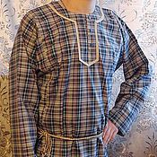 Одежда ручной работы. Ярмарка Мастеров - ручная работа мужская рубашка Повседневная. Handmade.