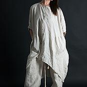 Одежда handmade. Livemaster - original item A linen suit, a Long loose top and pants - SE0266LE. Handmade.
