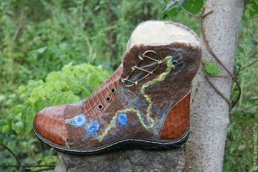 Обувь ручной работы. Ярмарка Мастеров - ручная работа. Купить Карнавал. Handmade. Валенки, шерсть