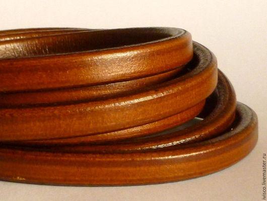 Для украшений ручной работы. Ярмарка Мастеров - ручная работа. Купить Шнур Регализ 10х6мм коричневый. Handmade. Кожаный шнур