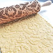 Для дома и интерьера handmade. Livemaster - original item CHRISTMAS theme - engraved rolling pin. Handmade.