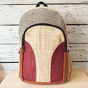 Сумки и аксессуары handmade. Livemaster - original item Backpack made of hemp #T-36b. Handmade.
