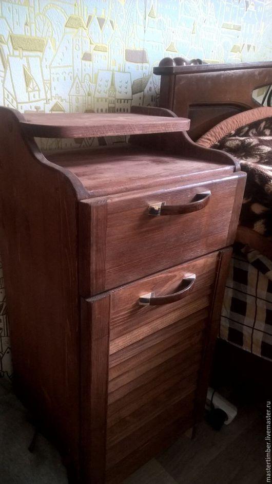 Мебель ручной работы. Ярмарка Мастеров - ручная работа. Купить Тумба прикроватная. Handmade. Коричневый, тумба прикроватная, столик из дерева