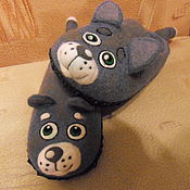 """Обувь ручной работы. Ярмарка Мастеров - ручная работа Тапочки """"Коты"""". Handmade."""