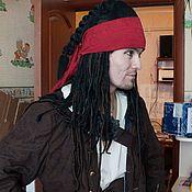 Аксессуары handmade. Livemaster - original item Dreadlocks wig Jack Sparrow with bandana. Handmade.