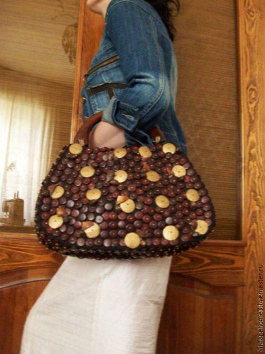 Винтажные сумки и кошельки. Ярмарка Мастеров - ручная работа. Купить сумка ручной работы  Италия винтажная. Handmade. Коричневый
