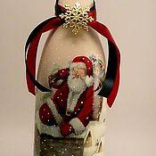 Подарки к праздникам ручной работы. Ярмарка Мастеров - ручная работа Оформление бутылок к Новому году. Handmade.