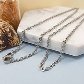 Материалы для творчества handmade. Livemaster - original item Chain with lock ready 59 cm steel (4829). Handmade.