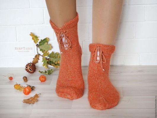 """Носки, Чулки ручной работы. Ярмарка Мастеров - ручная работа. Купить """"Теплая осень"""" носочки домашние 38 р. Handmade."""
