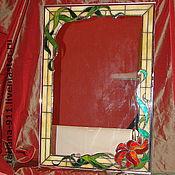 Для дома и интерьера ручной работы. Ярмарка Мастеров - ручная работа Витражное зеркало. Handmade.
