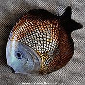 """Посуда ручной работы. Ярмарка Мастеров - ручная работа Тарелка """"Рыбка Золотая"""". Handmade."""