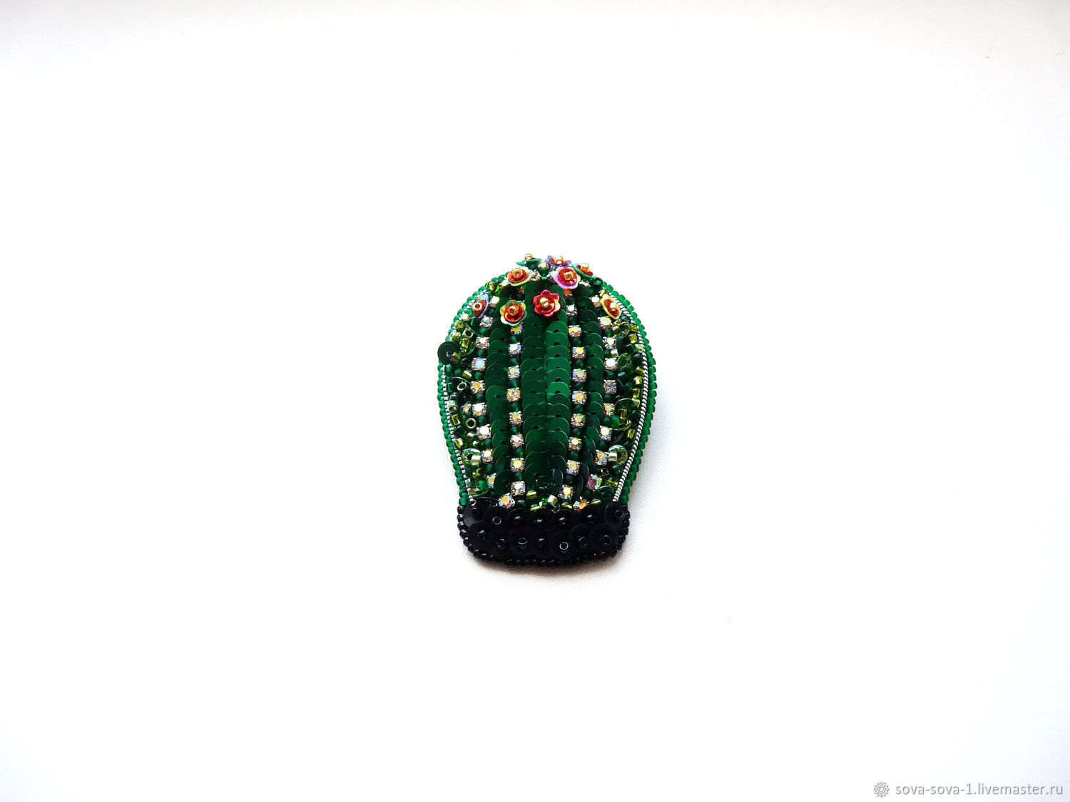 Brooch 'the Cactus kid', Brooches, Moscow,  Фото №1